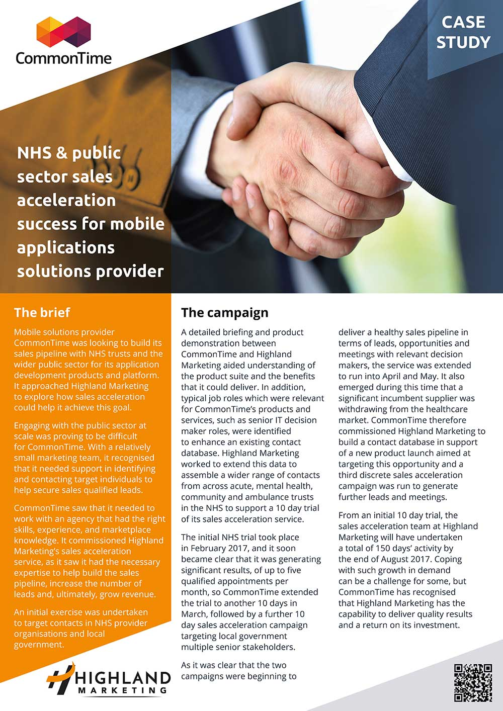 NHS & public sector sales acceleration success for mobile applications solutions provider